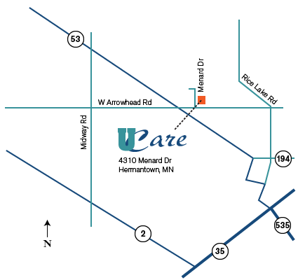 Map to Hermantown Office